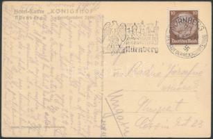 1939 Képeslap a nürnbergi Birodalmi Pártnap propaganda bélyegzőjével