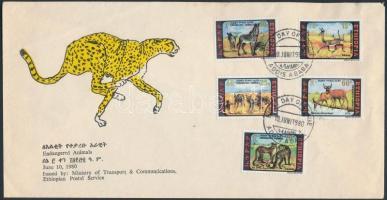 1980 Veszélyeztetett állatok sor Mi 1055-1059 FDC