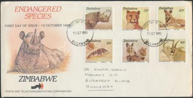Animals set sent to Budapest FDC, Állat sor Budapestre küldött FDC