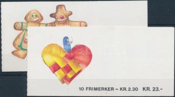 1987 Karácsony 2 klf bélyegfüzet Mi 984-985