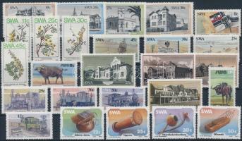 1984-1986 10 db sor és 2 bélyeg 2 stecklapon