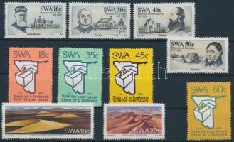 1987-1989 9 db sor és 1 bélyeg 2 stecklapon
