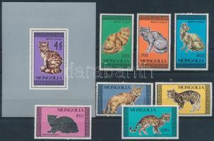 1987 Macska sor Mi 1900-1906 + blokk 122