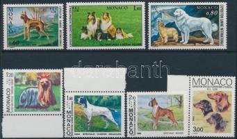 1972-1989 Kutyakiállítások 7 klf bélyeg