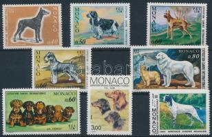 1970-1988 Kutyakiállítások 8 klf bélyeg