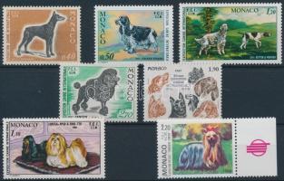 1970-1989 Kutyakiállítások 7 klf bélyeg