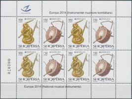 Europa CEPT, musical instruments block, Europa CEPT, hangszerek kisív