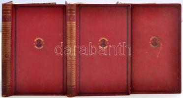 A Jókai Mór centenáriumi kiadás 13., 28. és 29. kötete: Mire megvénülünk; Névtelen vár 1-2. köt. Bp., 1926, Franklin - Révai. Kopott vászonkötésben, az egyik kötet gerince elválik.