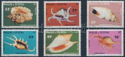 1984 Tengeri csigák és kagylók sor Mi 460-465