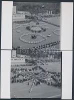 1969. május 1. Budapesti felvonulás, korabeli negatívokról készített 13 db modern nagyítás, 10x11 cm, 15x10 cm-es fotópapíron + hozzáadva a jogdíjmentes negatívokat is