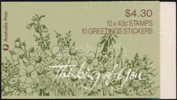 Greeting stamps; Flower stamp-booklet, Üdvözlő bélyeg; Virág bélyegfüzet