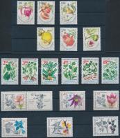1991-1993 Plants 3 sets, 1991-1993 Növények 3 klf sor (2 db stecklapon)