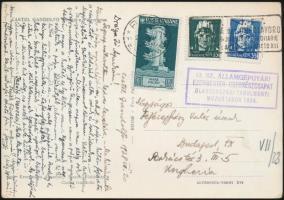 1938 Képeslap az Ezermester cserkészcsapat olaszországi mozgótáborából / Postcard from Hungarian moving scout camp in Italy