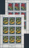 Wildflowers mini sheet, Vadvirágok kisív (3 db stecklapon)