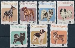 1987 Kutyák sor Mi 2790-2796