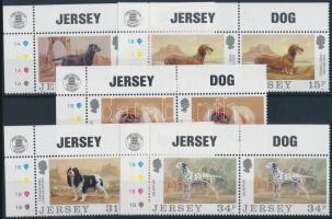 1988 Kutyák sor ívsarki párokban Mi 430-434