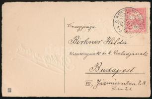 1916 Képeslap koronázás alkalmi bélyegzéssel