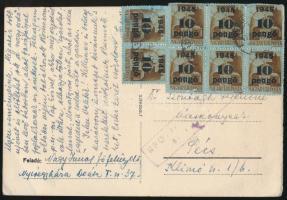 1945 (5. díjszabás) Cenzúrás levelezőlap Pécsre