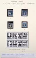 1869 Mi 22 típusrekonstrukció, 4 különféle típusú bélyeg