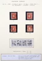1869 Mi 23 típusrekonstrukció, 4 különféle típusú bélyeg