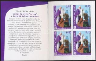Papal trips 2013 stamp booklet, Pápai utazások 2013 bélyegfüzet