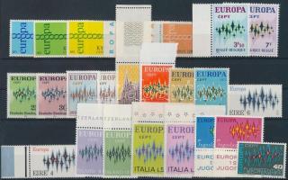 Europa CEPT 1970-1971 11 sets + 1 individual value, Europa CEPT 1971-1972 11 klf sor + 1 önálló érték