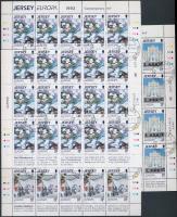 1993 Europa CEPT, kortárs művészet kisívsor első napi bélyegzéssel Mi 612-614