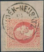 """(UJ-VID)ÉK-NEUSATZ"" Austria-Hungary-Serbia postmark ""(UJ-VID)ÉK-NEUSATZ"""