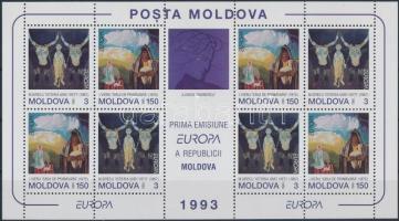 1993 Europa CEPT, kortárs művészet kisív Mi 94-95