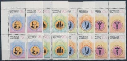 1980 Rotary sor ívsarki négyestömbökben Mi 870-873