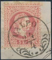 "Austria-Hungary-Croatia postmark ""VALPO"" ""VALPO"""