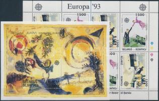 1993 Europa CEPT, Kortárs művészet kisív Mi 55-56 + blokk Mi 4
