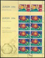 1994 Europa CEPT kisívsor első napi bélyegzéssel Mi 635-638
