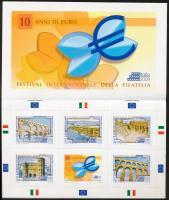 2009 Bélyegkiállítás; Római építészet Európában bélyegfüzet Mi 3348-3352