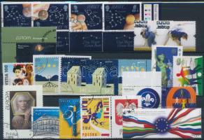 2004-2009 Europe stamps 5 diff sets + 9 diff stamps, Európa bélyegek 2004-2009 5 klf sor + 9 klf önálló érték