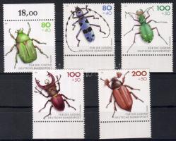 1993 Védett bogarak Mi 1666-1670