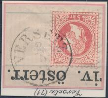 """VERSETZ"" Austria-Hungary-Serbia postmark ""VERSETZ"""