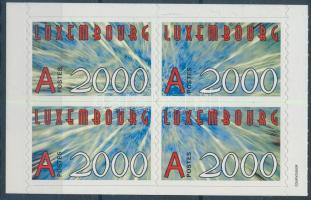 New year 2000 self-adhesive set blocks of 4, Új év 2000 öntapadós sor 4-es tömbben