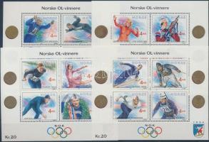 1989 Téli Olimpia (I-IV.) blokk sor Mi 12, 14, 16-17