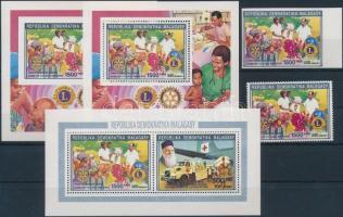 1992 Évfordulók - Rotary fogazott és vágott érték Mi 1394 II A + kisív Mi 1391 IIA + 1394 IIA + fogazott és vágott blokk 1394 IIA + B