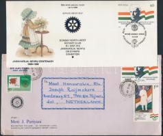 Rotary motívum 79 db többségében alkalmi boríték alkalmi bélyegzéssel, sokon Rotary-s bélyeg + 8 db emléklap 50-es évektől a 80-as évekig