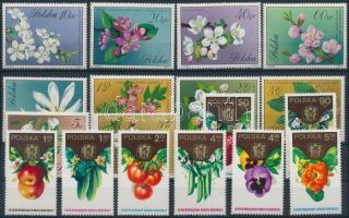 1971-1974 Növények 2 klf sor Mi 2132-2141, 2329-2336