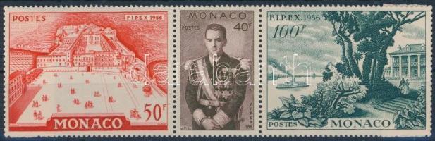 1956 Bélyegkiállítás 3 klf bélyeg Mi 533-535