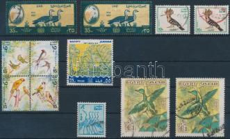1967-1994 12 Bird stamps, 1967-1994 12 db Madár motívumú bélyeg