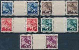 Böhmen und Mahren 1939 5 klf ívközéprészes pár Mi 20-24