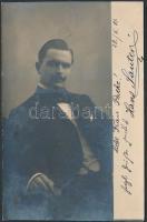 1901 Hans Sauter színész saját kézzel aláírt fotólap