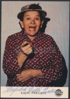 Kathi Prechtl (1909-2002) német színésznő saját kézzel aláírt kép / actress autograph signed card