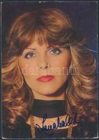 Lena Valaitis német énekesnő saját kézzel aláírt fotólap / autograph signed card
