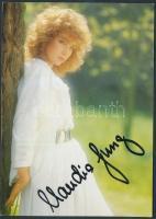 Claudia Jung német énekesnő saját kézzel aláírt fotólap / autograph signed card