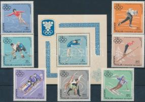 Winter Olympics, Grenoble set +block, Téli Olimpia, Grenoble sor + blokk